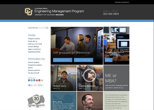 University of Colorado enlisted Traktek to redesign multiple websites for their Engineering program.