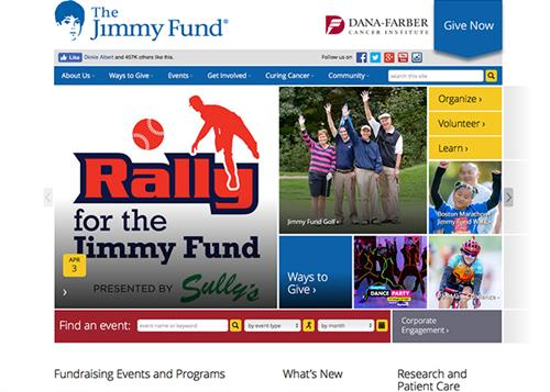 Traktek Partners designed and developed the Jimmy Fund website to drive donations through image-rich and event focused content.