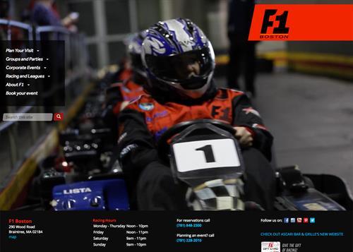 Traktek redesigned and developed F1 Boston's new responsive website in Drupal.