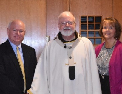 Principal MacDonald with Cardinal O'Malley & SJES Principal Kelly