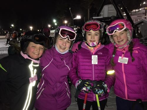 Students at Nashoba as part of the popular Ski Club