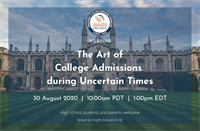 Member Webinar: The Art of College Admissions