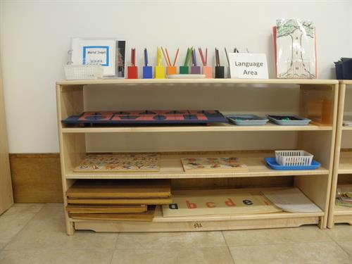 Preschool Language shelf.