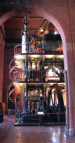 The Waterworks preserves the magnificent, original steam engines from the 19th century.