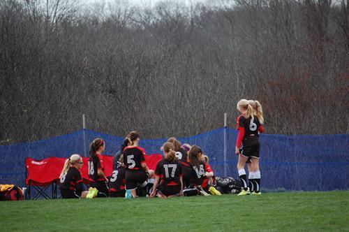 JSSA Premier Soccer club (JSSA girls team half time chat)