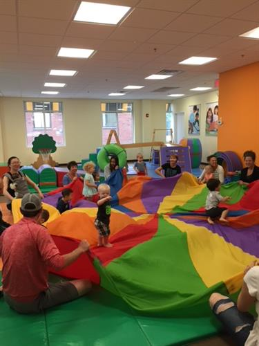 Parachute Time is the highlight of every Play & Learn class!