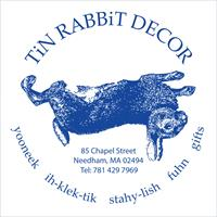 Tin Rabbit Decor