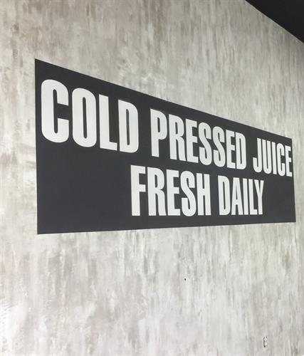 Finish and Lettering for Press It Juicery, North Easton, MA