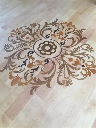 Stenciled Floor Medallion