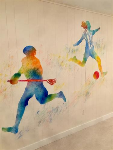 Sports figures for Play Room