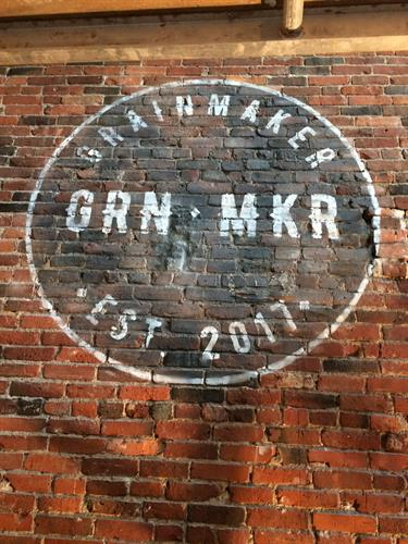 Distress Logo for GrainMaker Restaurant, Boston. MA