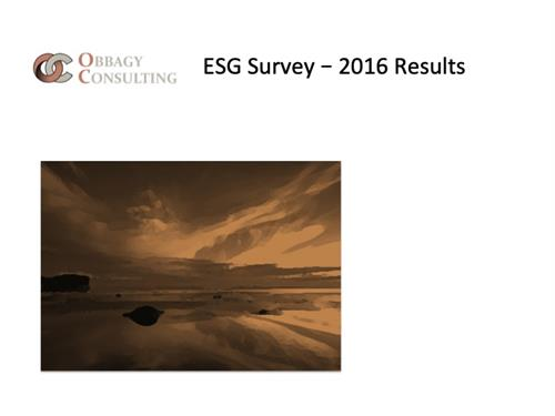 ES Survey Results;