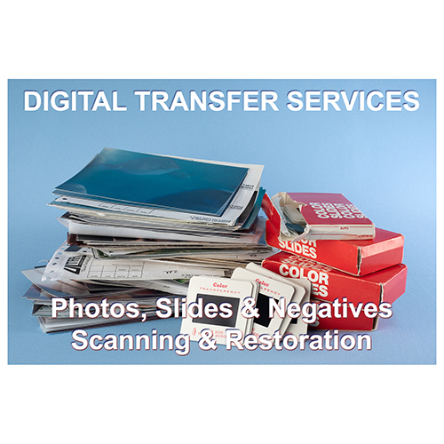 Digital Transfer Service for Photos & Slides, Slide Show creation