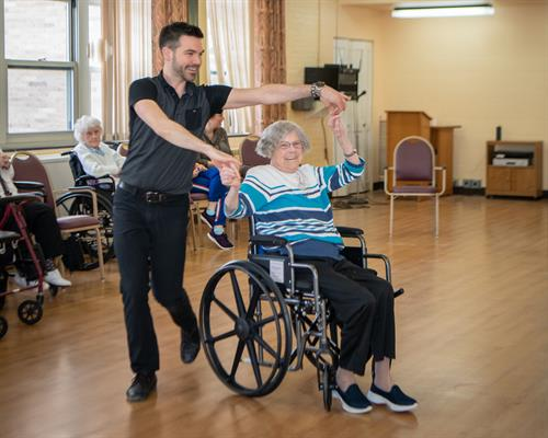 Ballroom dancing at the Elizabeth Seton Residence