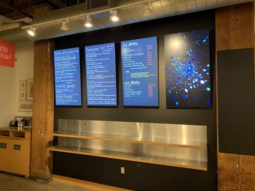 Commercial Digital Signage, Bakery Boston,MA
