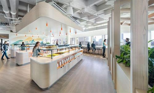 Workplace Dining Concept & Design: Kendall Square Workspace in Cambridge, MA (Photo via Utile Architecture)