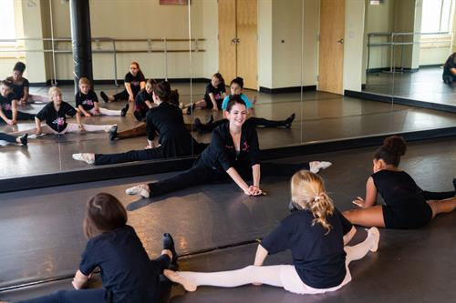 Stretching with Miss Lindsay Andersen