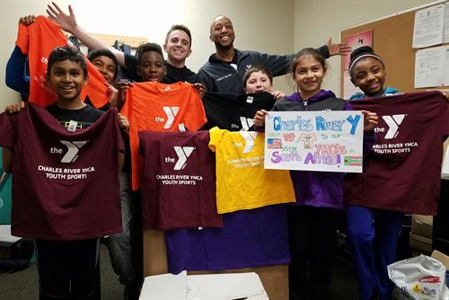 We sent recycled youth programming shirts to our sister YMCA's in South Africa!