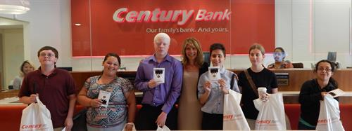 Carroll Center for the Blind visits Century in Newton Centre