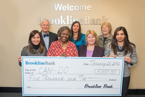 Brookline Bank donates to CAN-DO