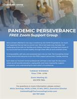 """Complimentary Virtual Support Group - """"Pandemic Perseverance"""""""