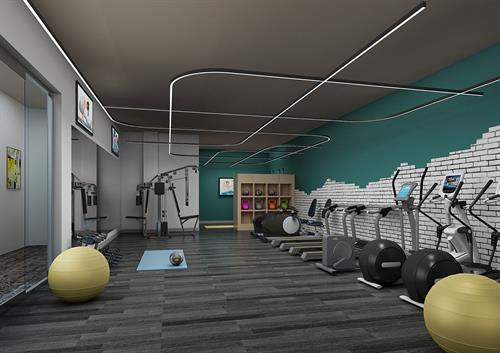 Fitness Center at Courthouse Lofts