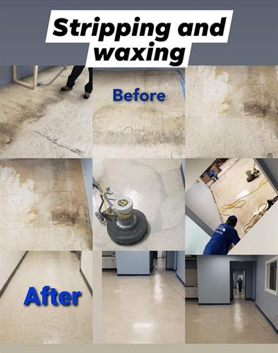 Stripping and waxing vinyl floors Worcester