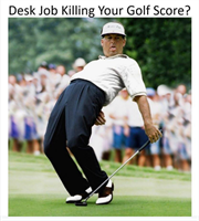 Is Your Desk Job Killing Your Golf Score? 5 Tips for unlocking the eagle in your golf game!