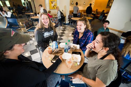 "Charlie's, or ""Chucks"" as it is known by students is a popular area to grab a bite with friends in between classes."