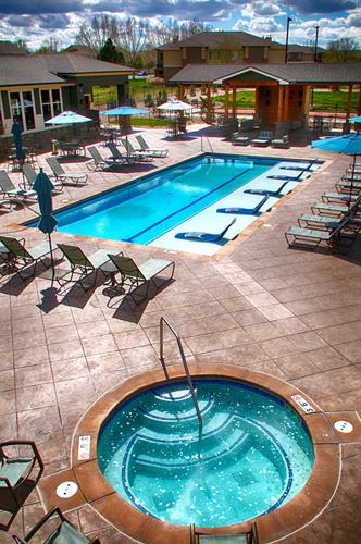 Salt-water heated pool, open year round!