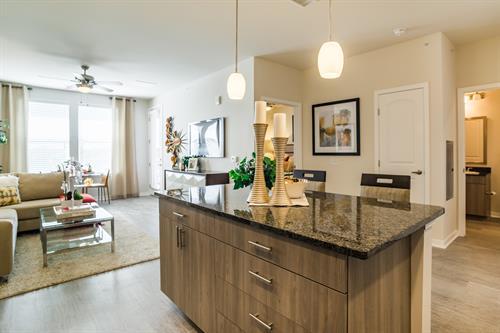 Granite CounterTops, and wood style flooring