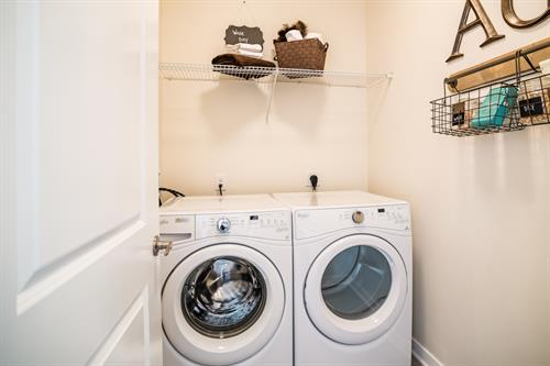 Full-size, front loading, washer and dryers in every home!