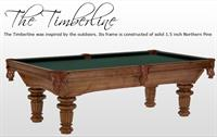 "HThe Timberline was inspired by the outdoors.  It's frame is constructed of solid 1.5"" Northern Pine!  Heritage Maple Finish and individually hand carved King George legs!"