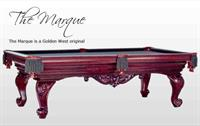 Antique Cherry Finish!  The Marque is a Golden West original with hand carved Ram Horn legs!