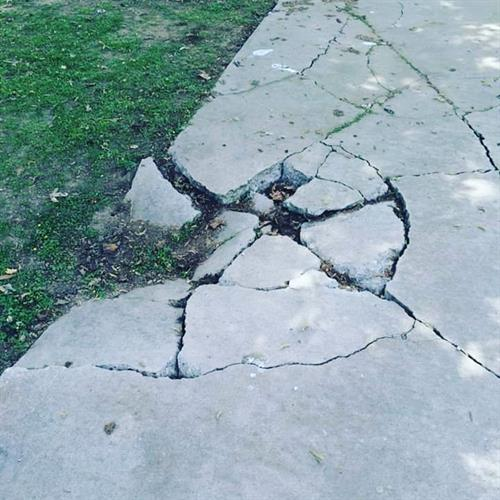 Sidewalks never repaired are a safety hazard
