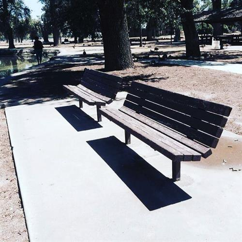 Benches around lagoon need pain
