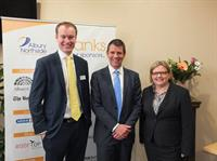 Ryan Muntz, YBE Chair & Mell Millgate, WIC Chair, with the NSW Premier, Mike Baird