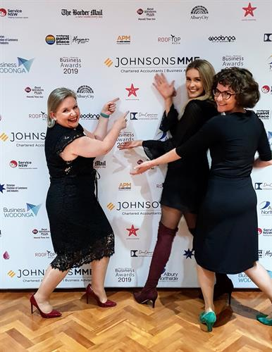 the starfish marketing team at the AW Business Awards Finalist night
