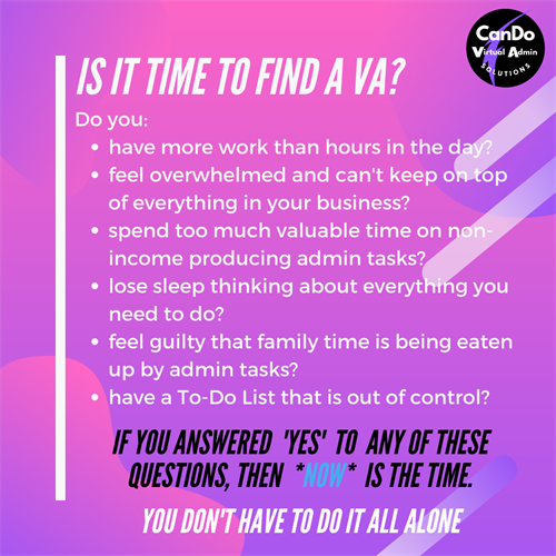 Is it time to Find a VA?