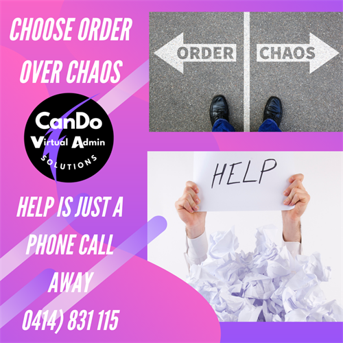 Choose Order over Chaos
