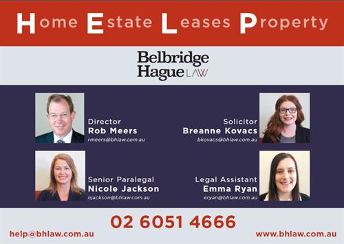 Call the HELP Team at Belbridge Hague Law for assistance with your next property transaction.
