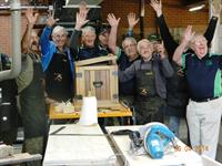 All the Gang!  The men from Beechworth Men's Shed - 2012 grant recipients