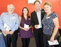 Connecting People Who Care to Local Causes that Matter: Grant Recipients Albury Wodonga Regional Foodshare & Youth Albury Wodonga representatives with Donors Andrew and Pauline Harbick