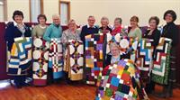 With a small Border Trust Grant, Murray River Quilters hand made 21 double bed quilts for Hilltop