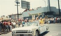 A scene from the Pride Parade circa 1990s.