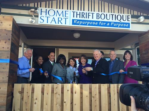 Home Start Thrift Boutique Ribbon Cutting 2015