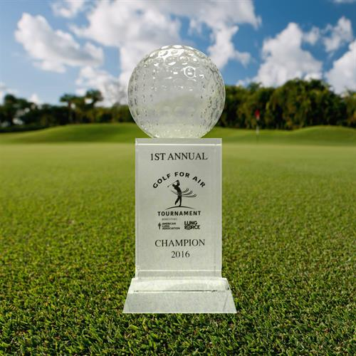 Bring us your brand for custom golf trophies