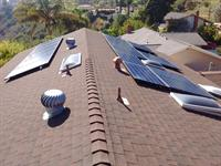 5.035 kW system installed in La Jolla on comp shingle roof.