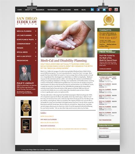 San Diego Elder Law Center, Marketing Management, Web Design, Graphic Design for San Diego Law Firm