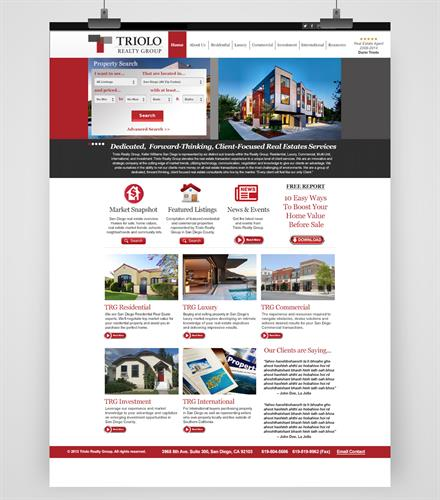 Triolo Realty Group Website